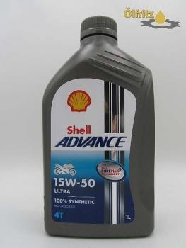 shell advance ultra 4t 15w 50 motorrad l 1l motor le f r. Black Bedroom Furniture Sets. Home Design Ideas
